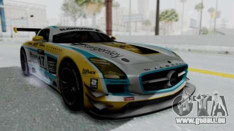 Mercedes-Benz SLS AMG GT3 PJ5 für GTA San Andreas Rückansicht