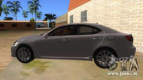 Lexus ISF für GTA San Andreas linke Ansicht