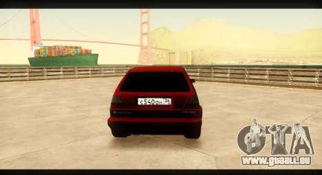 Volkswagen Golf GTI Mk2 pour GTA San Andreas vue de droite