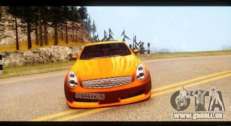 Infiniti G35 pour GTA San Andreas vue arrière
