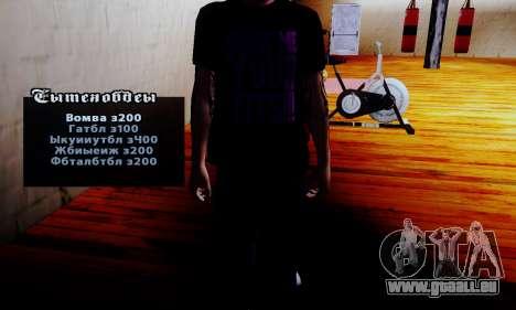 Le vendeur de stéroïdes dans la salle de gym pour GTA San Andreas deuxième écran