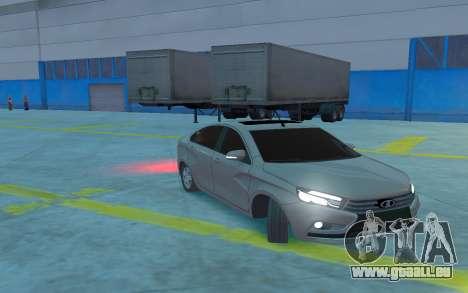 Lada Vesta pour GTA 4 est une vue de l'intérieur