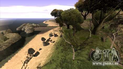 La construction du pont, et la forêt dense pour GTA San Andreas sixième écran