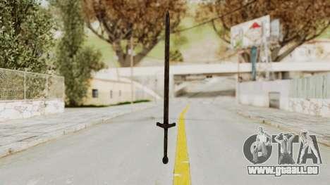 Skyrim Iron Sword pour GTA San Andreas deuxième écran
