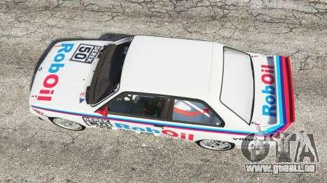 GTA 5 BMW M3 (E30) 1991 v1.3 vue arrière