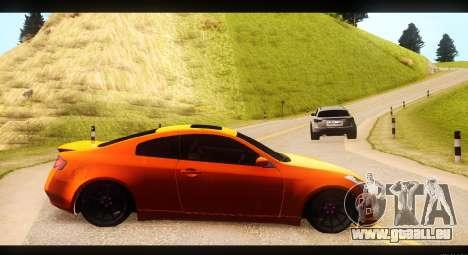 Infiniti G35 pour GTA San Andreas laissé vue