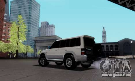 Mitsubishi Pajero 2 pour GTA San Andreas laissé vue