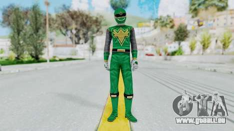 Power Rangers Ninja Storm - Green für GTA San Andreas zweiten Screenshot