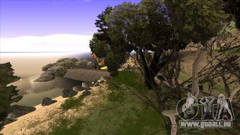 La construction du pont, et la forêt dense pour GTA San Andreas septième écran