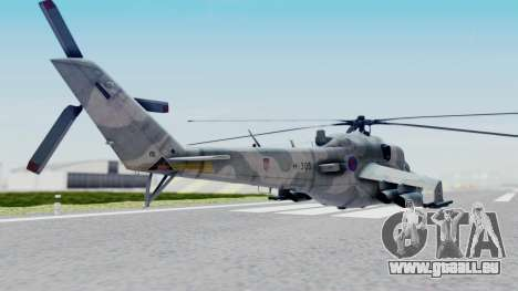 Mi-24V Croatian Air Force H-035 für GTA San Andreas linke Ansicht
