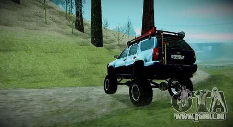 Chevrolet Tahoe LTZ 4x4 pour GTA San Andreas sur la vue arrière gauche