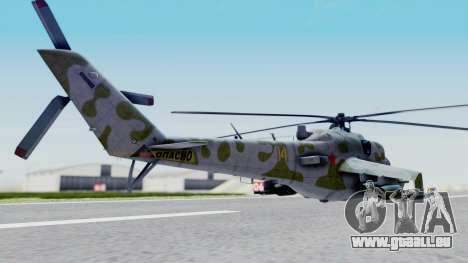 Mi-24V Soviet Air Force 14 für GTA San Andreas linke Ansicht