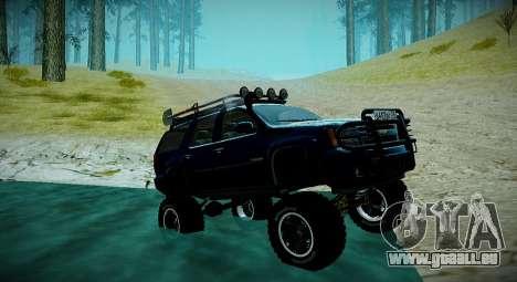 Chevrolet Tahoe LTZ 4x4 pour GTA San Andreas vue de dessus