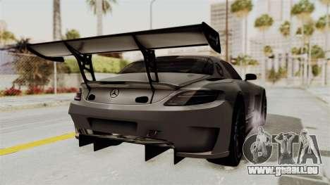Mercedes-Benz SLS AMG GT3 PJ1 pour GTA San Andreas sur la vue arrière gauche
