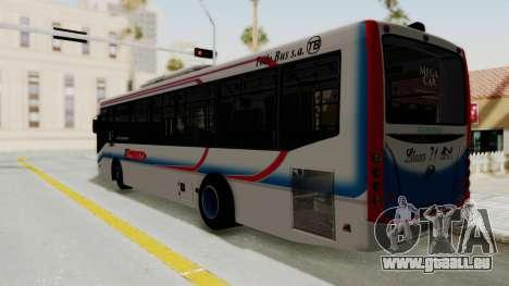 Todo Bus Pompeya II Agrale MT15 Linea 71 pour GTA San Andreas laissé vue