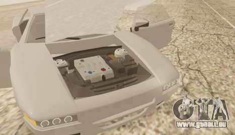 Infernus pour GTA San Andreas sur la vue arrière gauche