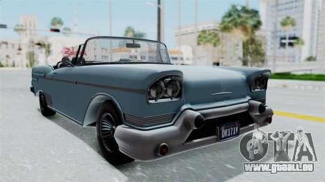 GTA 5 Declasse Tornado No Bobbles and Plaques pour GTA San Andreas vue de droite