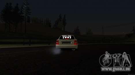 Lada Priora für GTA San Andreas obere Ansicht