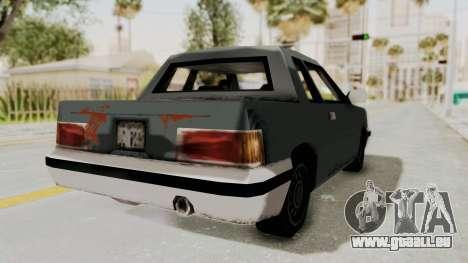 GTA 3 Corpse Manana pour GTA San Andreas sur la vue arrière gauche