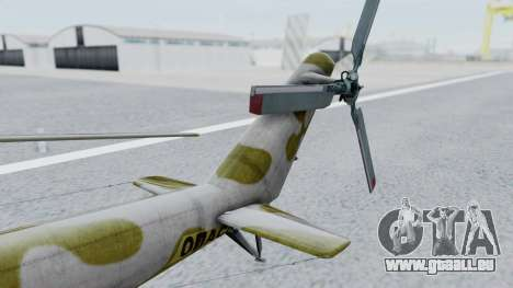 Mi-24V Soviet Air Force 14 für GTA San Andreas zurück linke Ansicht
