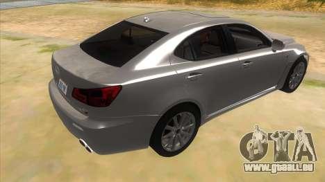 Lexus ISF für GTA San Andreas rechten Ansicht
