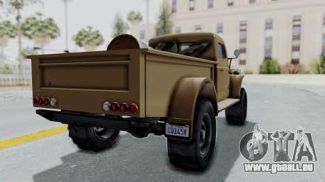 GTA 5 Bravado Duneloader Cleaner pour GTA San Andreas laissé vue