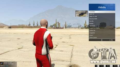 GTA 5 Le corps de la boutique benny en mode simple cinquième capture d'écran