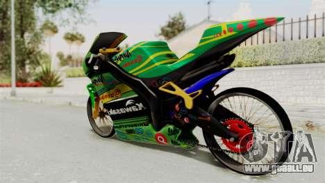 Kawasaki Ninja ZXRR56R pour GTA San Andreas laissé vue