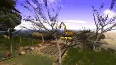 La construction du pont, et la forêt dense