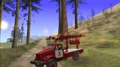 GAZ 63 APG-14 camion de pompiers