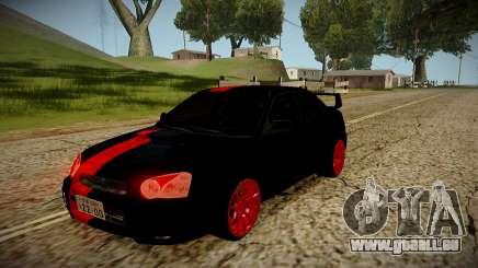 Subaru Impreza WRX STi Black Beast Japan für GTA San Andreas