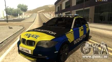 BMW 120i SE UK Police ANPR Interceptor pour GTA San Andreas