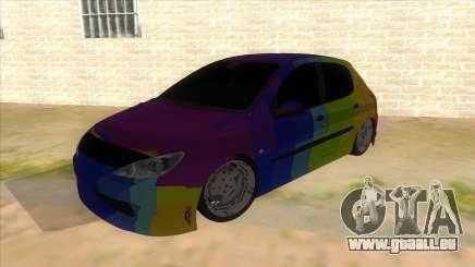 Iranian Peugeot 206 Sport für GTA San Andreas