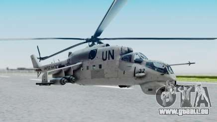 Mi-24V United Nations 032 für GTA San Andreas