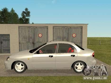 Daewoo Lanos (Sens) 2004 v1.0 by Greedy pour GTA San Andreas laissé vue