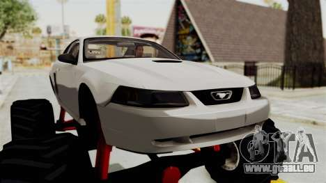 Ford Mustang 1999 Monster Truck pour GTA San Andreas vue arrière