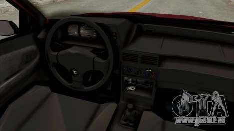 Daewoo Cielo 1.5 GLS 1998 pour GTA San Andreas vue intérieure