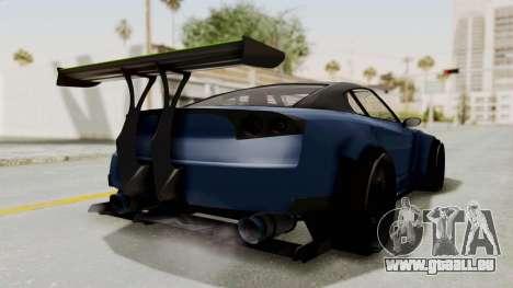 GTA 5 Annis Elegy Twinturbo Spec pour GTA San Andreas sur la vue arrière gauche