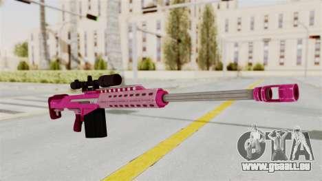 GTA 5 Heavy Sniper Pink pour GTA San Andreas