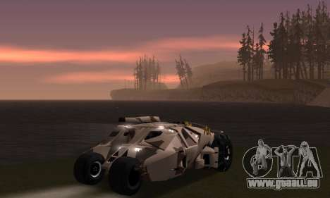Army Tumbler Gun Tower from TDKR pour GTA San Andreas roue