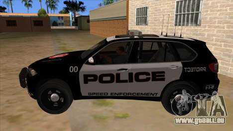2014 BMW X5 F15 Police pour GTA San Andreas laissé vue