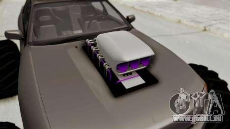 Nissan Skyline R32 4 Door Monster Truck pour GTA San Andreas vue arrière