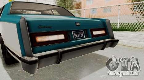GTA 5 Dundreary Virgo Classic IVF pour GTA San Andreas vue de dessus