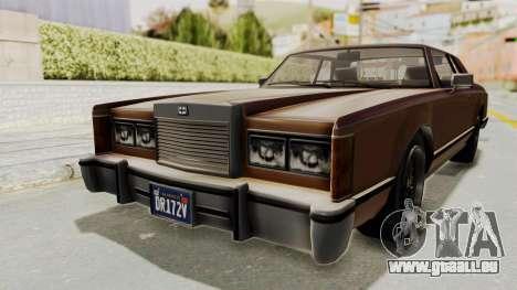 GTA 5 Dundreary Virgo Classic pour GTA San Andreas sur la vue arrière gauche
