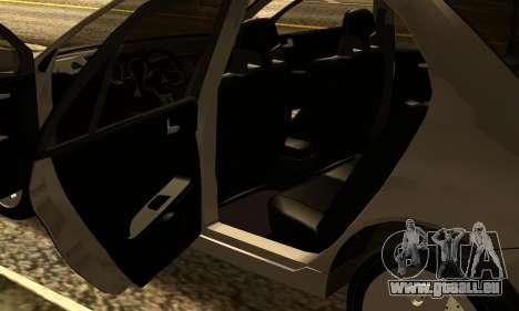 Mitsubishi Lancer 2005 pour GTA San Andreas vue intérieure