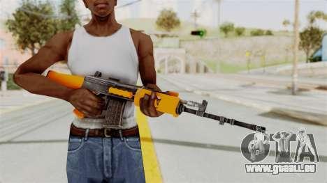 IOFB INSAS Plastic Orange Skin pour GTA San Andreas troisième écran