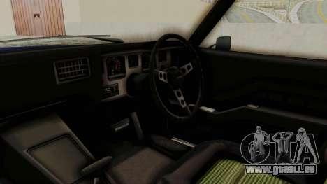 Holden Monaro GTS 1971 AU Plate IVF pour GTA San Andreas vue intérieure