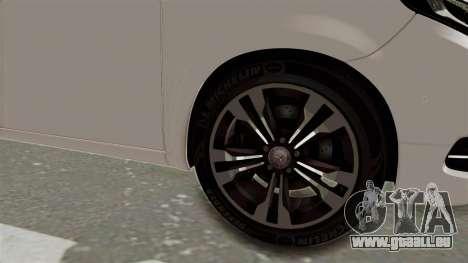 Mercedes-Benz V-Class 2015 für GTA San Andreas Rückansicht