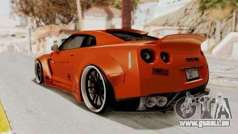 Nissan GT-R R35 Liberty Walk LB Performance pour GTA San Andreas laissé vue