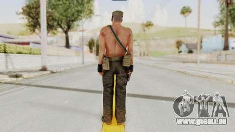 MGSV Phantom Pain Rogue Coyote Soldier Naked v1 für GTA San Andreas dritten Screenshot